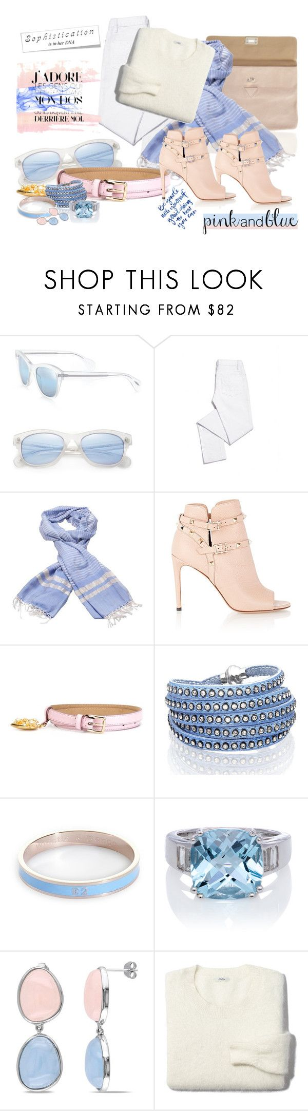 """""""2016 Pantone"""" by mrs-rc ❤ liked on Polyvore featuring Oliver Peoples, Tory Burch, Valentino, Dolce&Gabbana, Sif Jakobs Jewellery, Whistle & Bango, Ice, Madewell, women's clothing and women"""