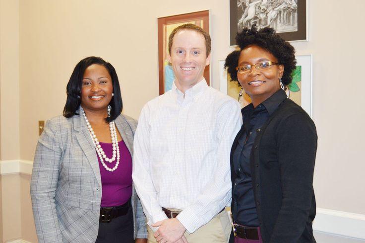 Blythewood High School teacher and Teaching Ambassador Fellow Patrick Kelly visits district