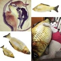 Home | Grass Carp Pet Cat Dog Kitten Fish Shape Interactive Chewing Play Fun Toy DOU