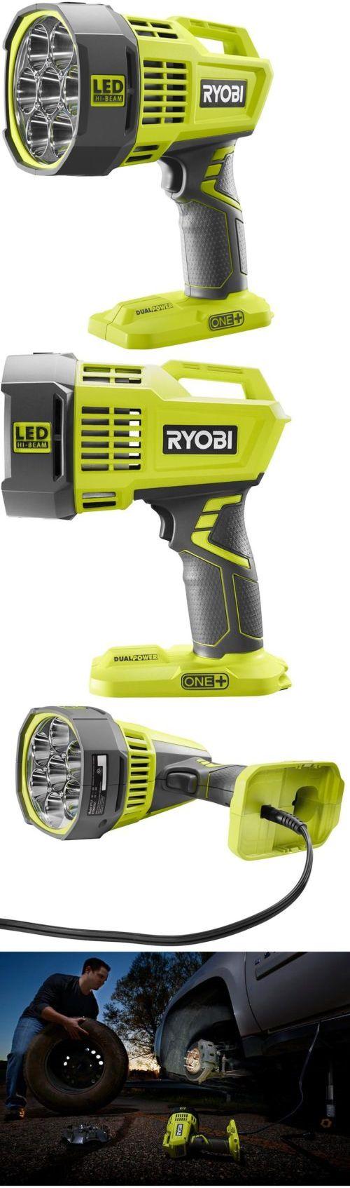 Flashlights 20760: Ryobi 18-Volt One+ Dual Power Led Spotlight Cordless Battery Powered Lighting -> BUY IT NOW ONLY: $66.46 on eBay!