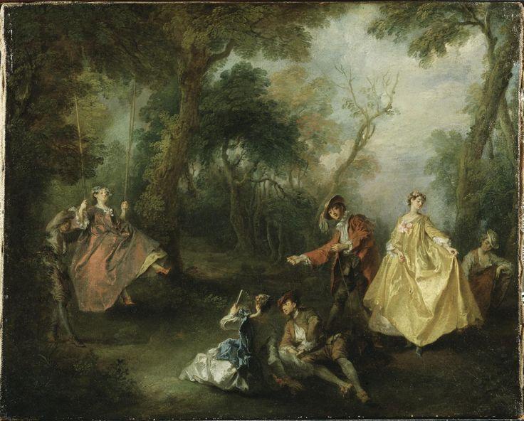 The Swing | Nicolas Lancret (1690-1743) | Nationalmuseum, Sweden | Public Domain Marked