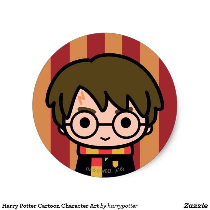 Harry Potter Cartoon Character Art #sticker