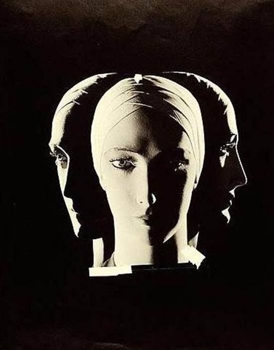 Wynn Richards. Mannequin head in three views. 1925.