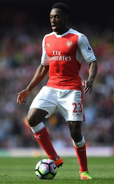 Danny Welbeck of Arsenal in action during the Premier League match between Arsenal and Manchester United at Emirates Stadium on May 7, 2017 in London, England.
