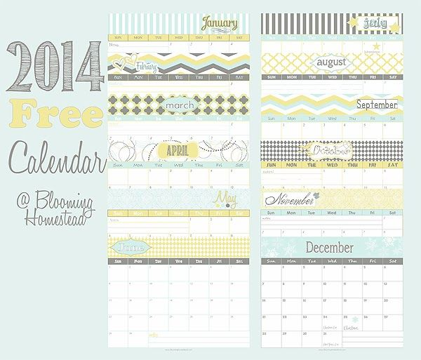 16 Best Free 2014 Calendars Images On Pinterest Free Printables