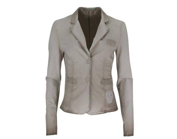 JOLINA DALLAS Langarm Sweatblazer Reverkragen Nietenbesatz beige Jetzt bestellen unter: https://mode.ladendirekt.de/damen/bekleidung/blazer/sweatblazer/?uid=d00ba385-cacc-596f-b02a-706d7cd355ba&utm_source=pinterest&utm_medium=pin&utm_campaign=boards #blazer #sweatblazer #bekleidung