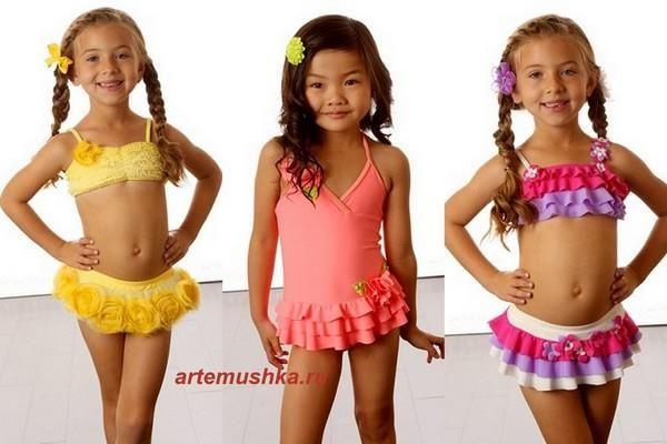 Купальные костюмы для девочек
