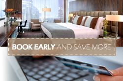 Save from 10-20% on your accommodation simply by booking in advance. So whether you are planning a family getaway, a romantic holiday, or an extended business trip, take advantage of this great offer and let us take care of you! Click on the pin for more info & to book!
