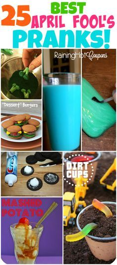 Sponsored Link Repin It Here April Fools Day Pranks can be hard but fun to come up with! Below is a huge list of April Fool's day pranks that will get your creative juices flowing. These will definitely fool your family and friends. I love doing these all day long on April 1st. The kiddos …