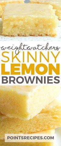 Skinny Lemon Brownies (Weight Watchers SmartPoints)