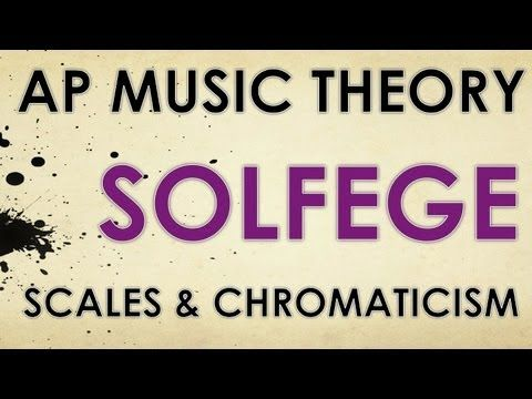 AP Music Theory: Solfege application to scales and chromaticism