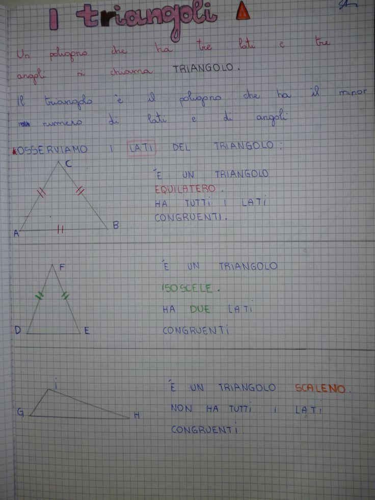 TRIANGOLI TRIANGOLI1 qui potete scaricarlo in formato PDF Vi aspetto sulla mia pagina di FB che trovate QUI RICORDATI DI METTERE ' MI PIACE' ALLA PAGIN