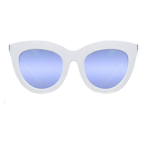 Quay Australia Quay White Eclipse Sunglasses (2.665 RUB) ❤ liked on Polyvore featuring accessories, eyewear, sunglasses, glasses, white sunglasses, quay sunglasses, quay eyewear and white glasses
