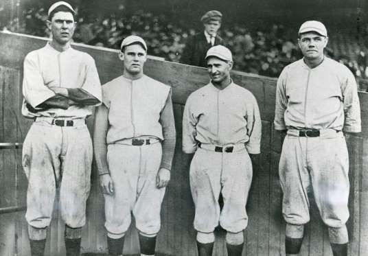 World Series Winners from the year you were born. Led by baseball legend Babe Ruth, the Boston Red Sox needed just five games to win the 1916 World Se... - Transcendental Graphics/Getty Images