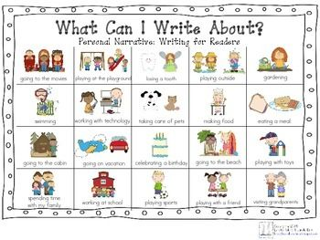 WHAT CAN I WRITE ABOUT CHART-LUCY CALKINS: NARRATIVE - TeachersPayTeachers.com                                                                                                                                                                                 More