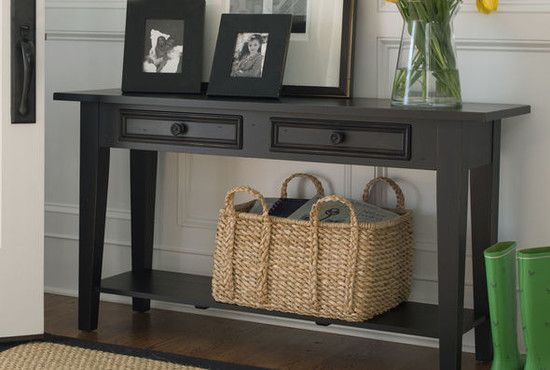 side table with basket drawers | Simple But Stunning Traditional Side Table With Drawers Finished In ...