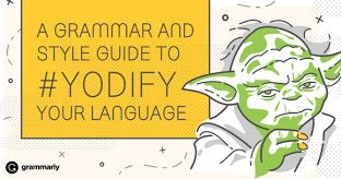 Share this with your advanced learners. Review some useful grammar terms you will. http://www.grammarly.com/blog/2015/star-wars/