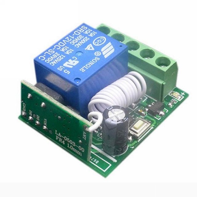 10a 1 Channel 433hz Remote Control Receiver Rf Wireless Relay Switch Dc12v For Diy Integrated Circuits Part Mayitr Review Remote Remote Control Relay