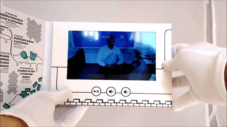 Kolejny film pokazujący działanie video broszury. Tutaj wariant 7 calowy w twardej okładce. #broszurawideo #videobroszura #elektronikareklamowa