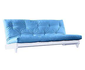 Divano letto con futon in pino Fresh turchese - 200x107x82 cm