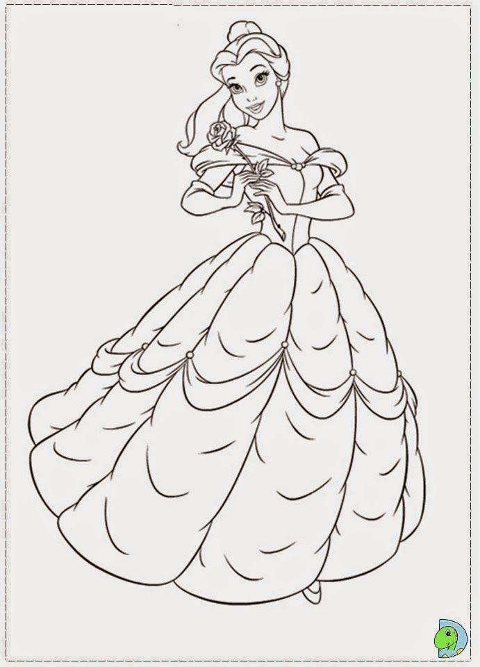 Desenhos De A Bela E O Monstro Princesa Bela Para Colorir