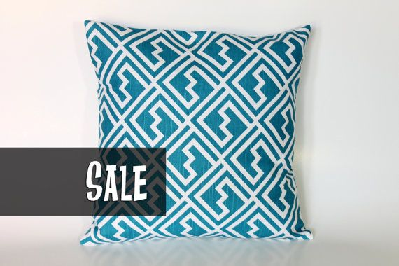 Decorative Pillow Cover 20x20  Teal 20x20 Pillow by HomeMakeOver, $10.99
