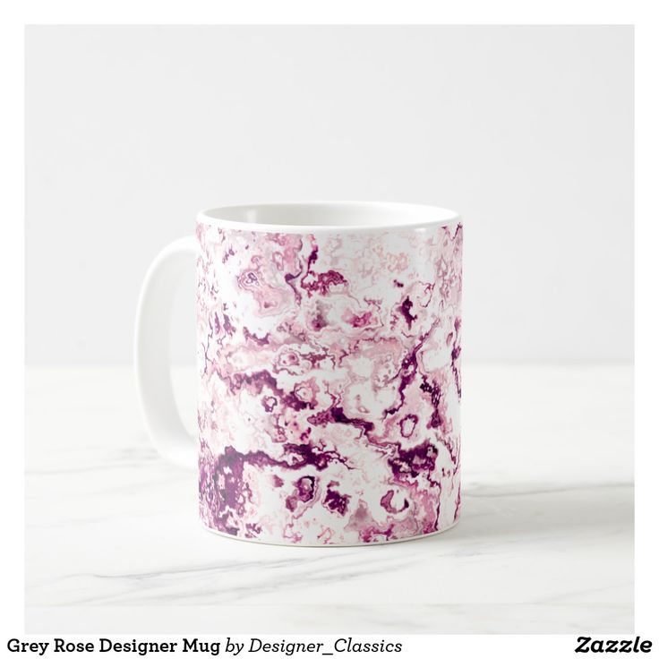 Grey Rose Designer Mug