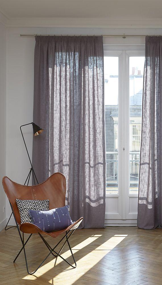 Gardine Bellevue mit Kruselband 1 Stck in 2019  VorhangIdeen Wohnzimmer  Stube  Vorhnge