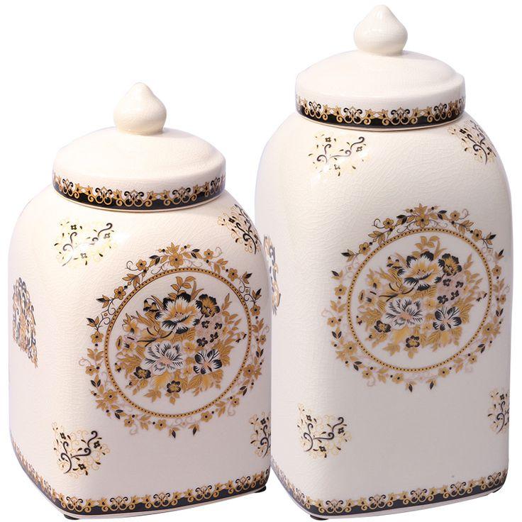 Дуб стиле усадьбы гостиная Домой Мебель для хранения танк декор Гейзенберг лед трещина Этикета керамические украшения
