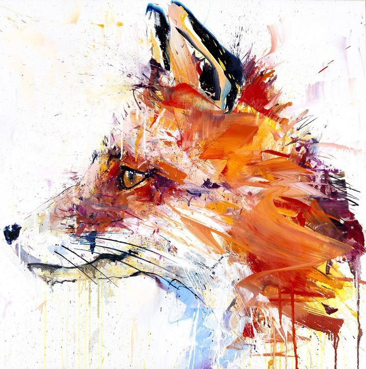 Fox I by Dave White / Oil on linen