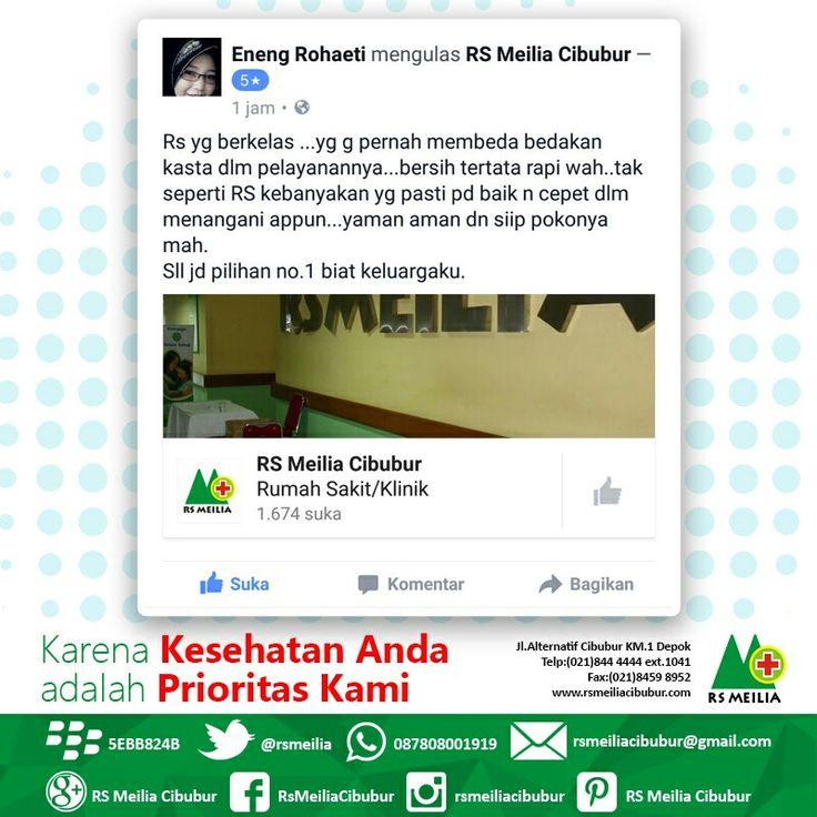 Terima kasih atas kepercayaan Anda #layanan #dokter sehat #rumahsakit #rsmeilia #cibubur #depok #cileungsi #bekasi #bogor #jakarta #tangerang #indonesia