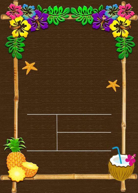 Открытка для гавайской вечеринки, для мужской открытки