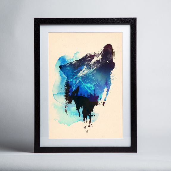 Robert Farkas - Alone As A Wolf - Framed print