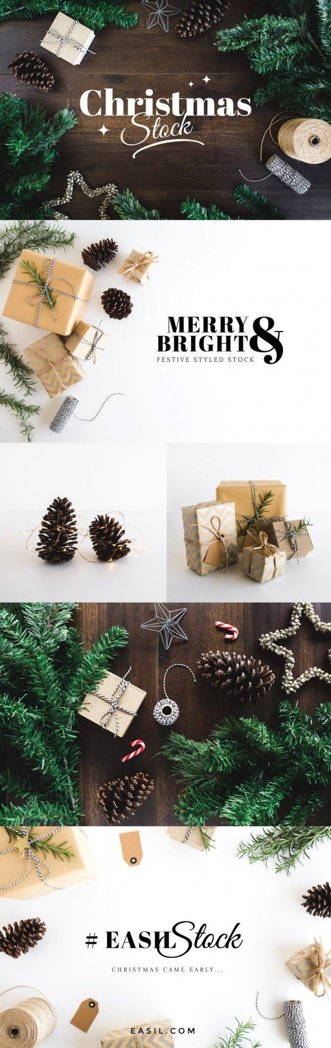 Festive Christmas styled stock photography for the holiday season