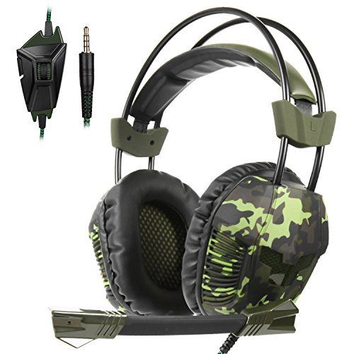 Yanni Sades SA921Plus Stereo Gaming Headset Headband Headphones with Microphone for PC/MAC/PS4/New Xbox one Gamers (Camouflage green) This ranks among the best of the hot selling items in PC  category in USA. Click below to see its Availability and Price in YOUR country.