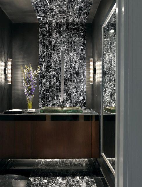 Luxury Condominium - contemporary - powder room - st louis - Edwin Pepper Interiors