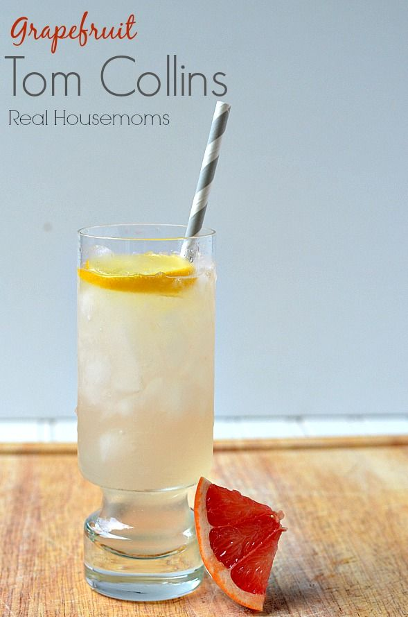 Grapefruit Tom Collins | Real Housemoms | This drink is so refreshing!!!