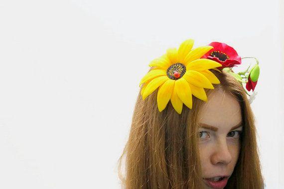 Couronnes de cheveux de la tête accessoires par MarinaFeltedShoes