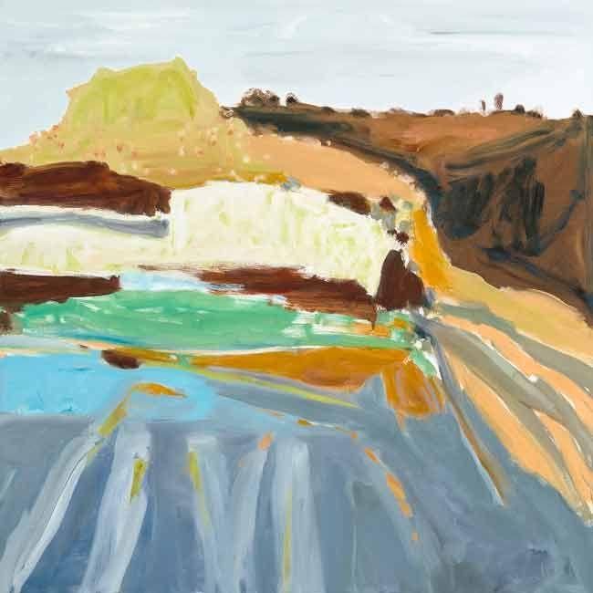 © Jo Bertini ~ Sandcastle II ~ 2014 oil on canvas at Olsen Irwin Gallery Sydney Australia