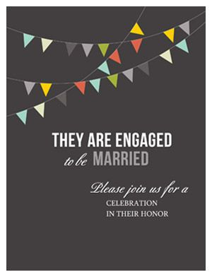 """Free downloadable self mailer engagement Invitations. Just """"like us""""! 