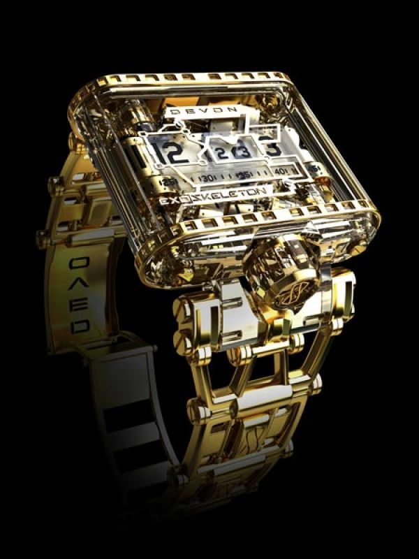 Tread 1 Exoskeleton, Devon: One of the watch brands most high-end watches, this skeletanised Tread 1 watch exposes its inner workings in all its magnificent glory. The Exoskeleton watchs innovative de