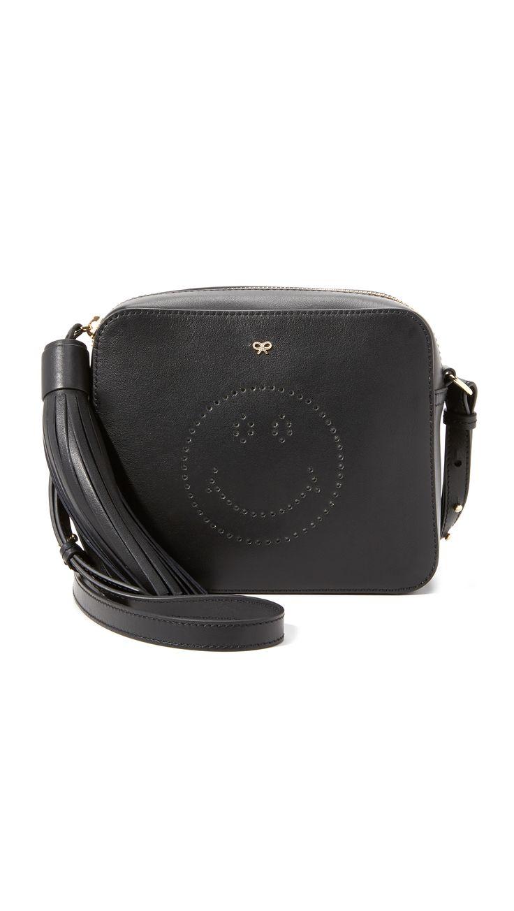 Anya Hindmarch Smiley Cross Body Bag - Black | SHOPBOP.COM saved by #ShoppingIS