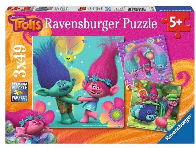 Ravensburger Trolls poppy's 3x49  Ravensburger Trolls poppy's 3x49 stukjes  EUR 11.02  Meer informatie