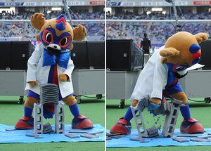 If you go and watch FC Tokyo, you'd be foolish to take the mickey out of Tokyo Dorompa's ridiculous bow tie.