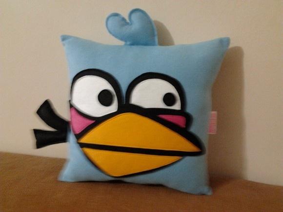 Almofadas | angry birds | blue | Feltro