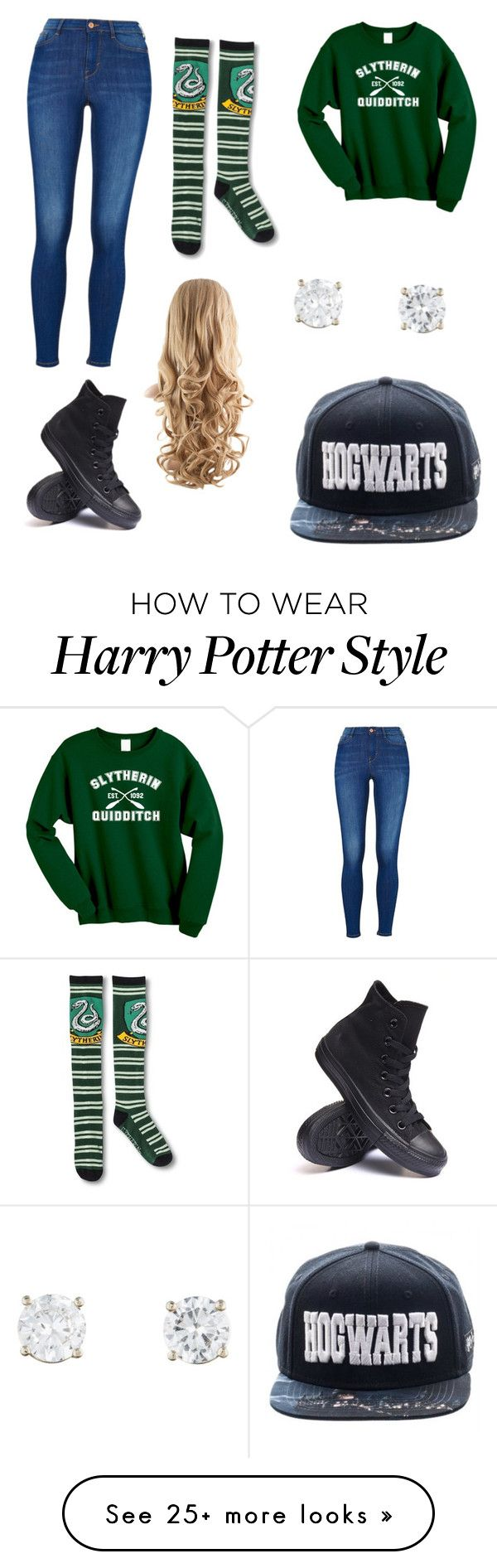 """""""Slytherin Pride"""" by jghamner on Polyvore featuring Converse"""