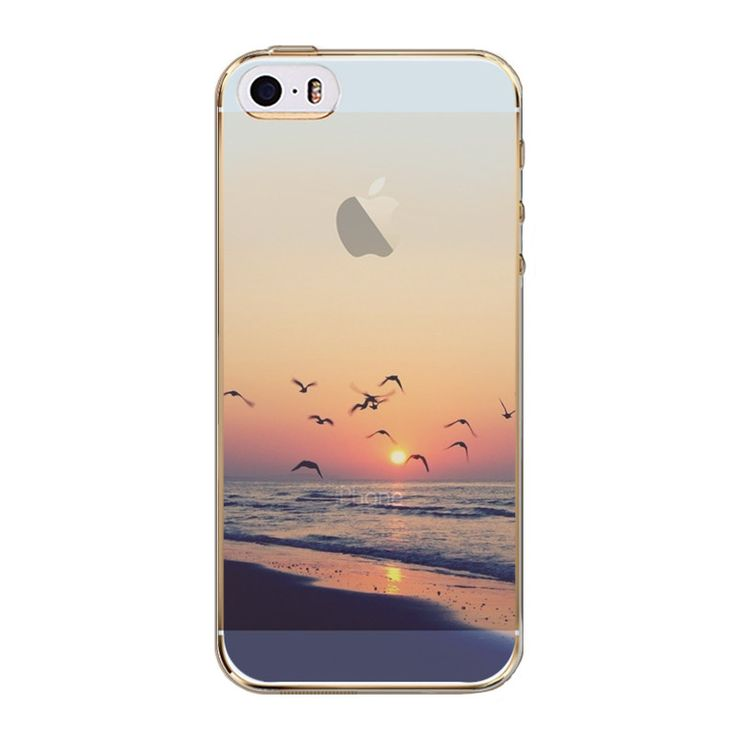 Phone Back Cases For iPhone 5 iPhone 5s SE Ultra Thin Soft TPU Silicon Printed Animals, Flower, Beauty Girl Back Case Cover