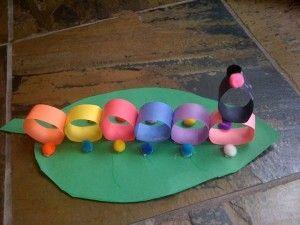 Construction Paper Craft, Caterpillar project, child, toddler, activity, healthy activity, parenting, smart parenting, project, kids project, homeschooling, preschool activity