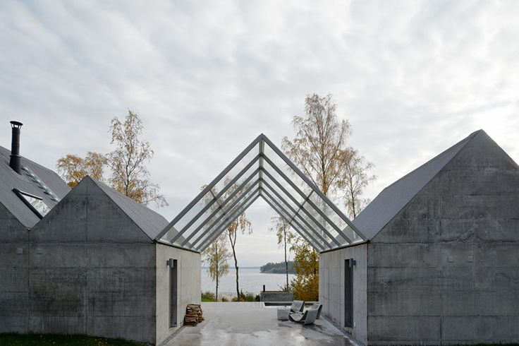 Concrete Gabled Summerhouse Lagno / designed by Tham & Videgard (photo by Åke E:son lindman)