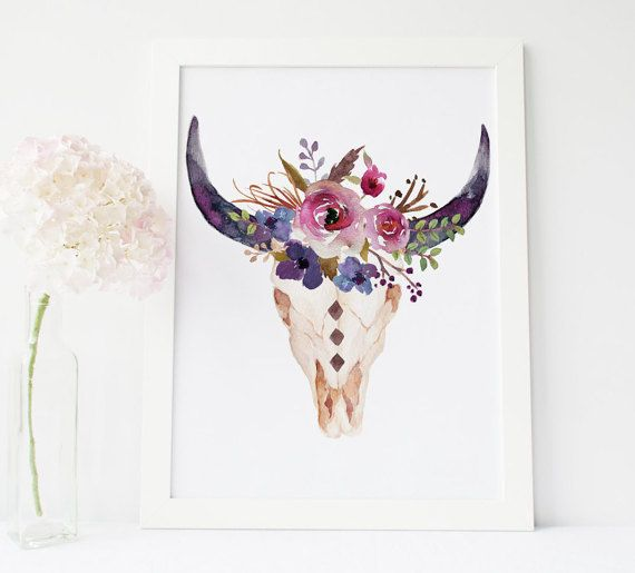 Hey, I found this really awesome Etsy listing at https://www.etsy.com/listing/247002012/printable-art-bull-head-print-cow-skull